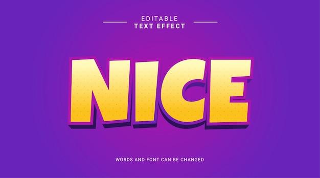 Редактируемый текстовый эффект в современном полужирном стиле приятный желтый фиолетовый цвет