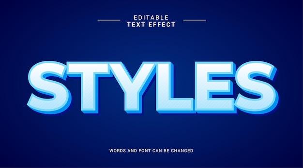 Editable text effect modern bold style styles blue sky color