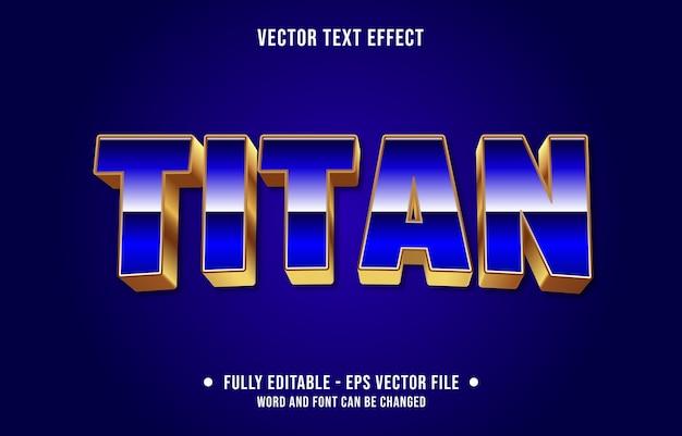 Editable text effect modern chrome blue style