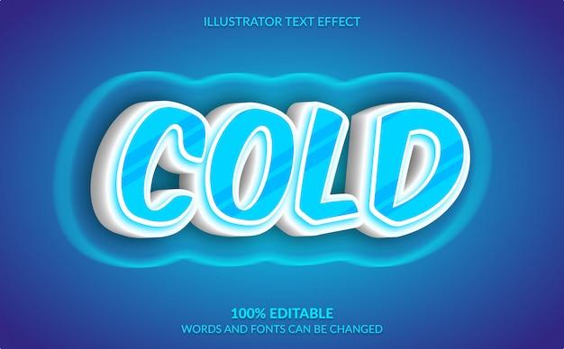 Редактируемый текстовый эффект, современный холодный синий текстовый стиль