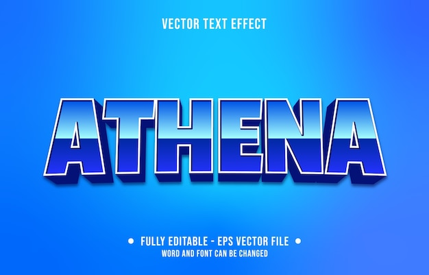 Editable text effect modern gaming style