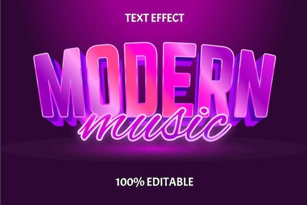 Редактируемый текстовый эффект современная музыка