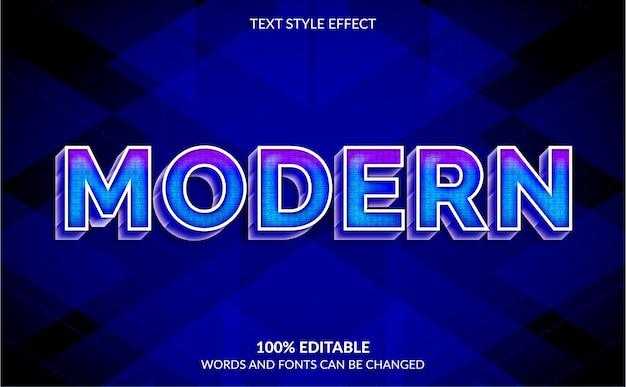 Editable text effect modern text style