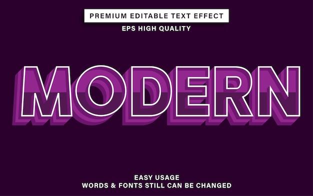 Редактируемый текстовый эффект современный с фиолетовым цветом