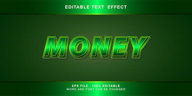 Editable text effect money