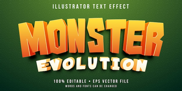 Editable text effect - monster catching game style