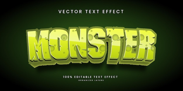 Editable text effect in monster style