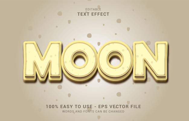 Editable text effect, moon style