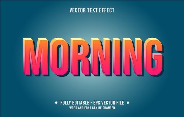 Editable text effect morning sunrise gradient yellow modern style