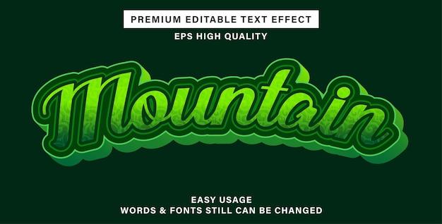 Редактируемый текстовый эффект гора