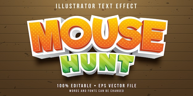 Editable text effect - mouse hunt game style