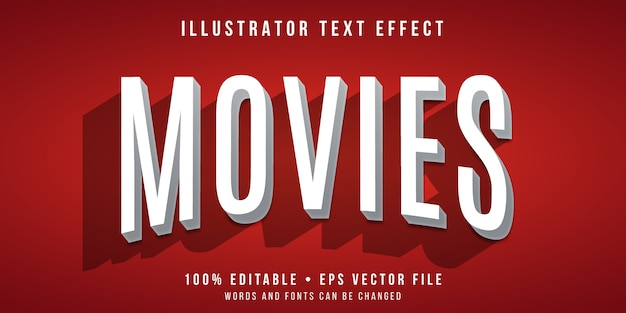 Editable text effect - movie title style