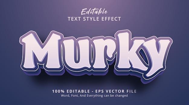 Редактируемый текстовый эффект, мрачный текст на фиолетовом цветовом эффекте стиля