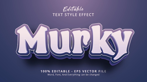 Editable text effect, murky text on purple color style effect