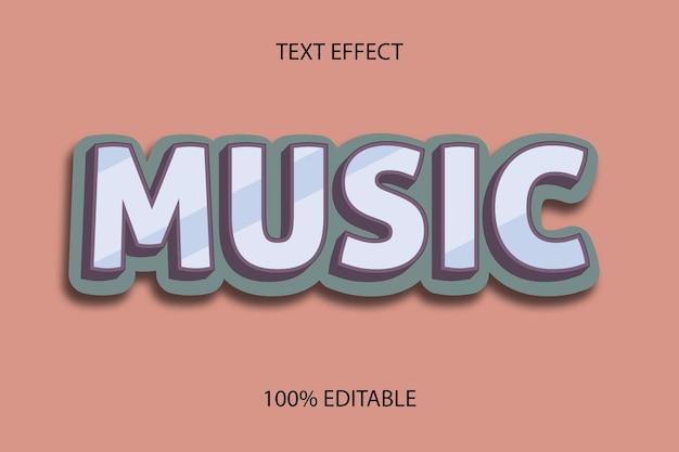 Редактируемый текстовый эффект музыкальный стиль ретро