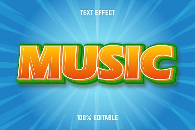 Редактируемый текстовый эффект музыка