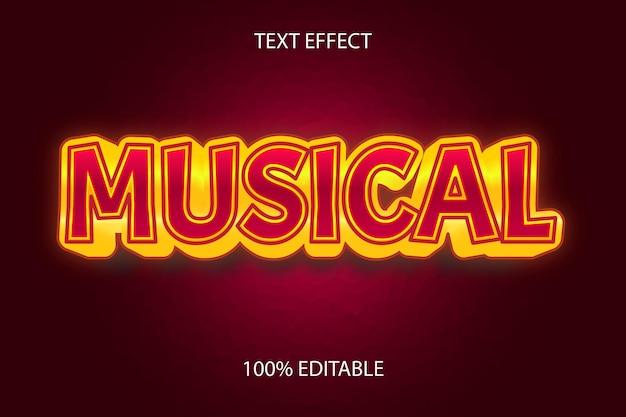 Редактируемый текстовый эффект музыкальный стиль золото