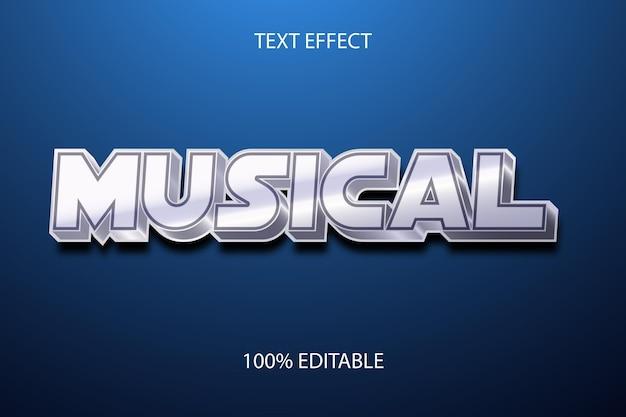 Редактируемый текстовый эффект музыкальный