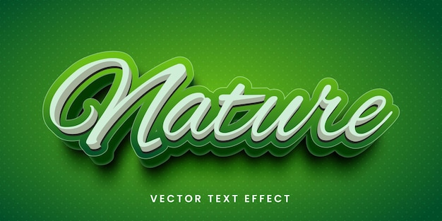 Editable text effect in nature style
