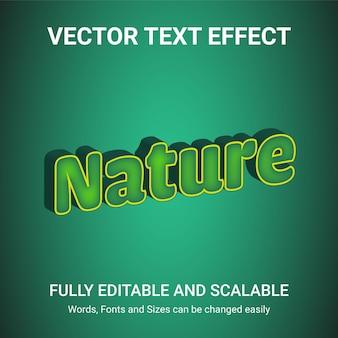 Редактируемый текстовый эффект - стиль текста nature