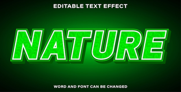 Editable text effect nature