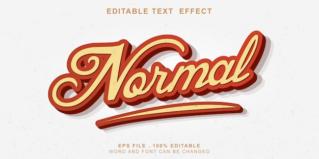 Editable text effect new normal 3d