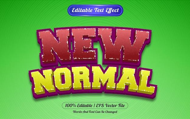 Редактируемый текстовый эффект новый нормальный стиль шаблона