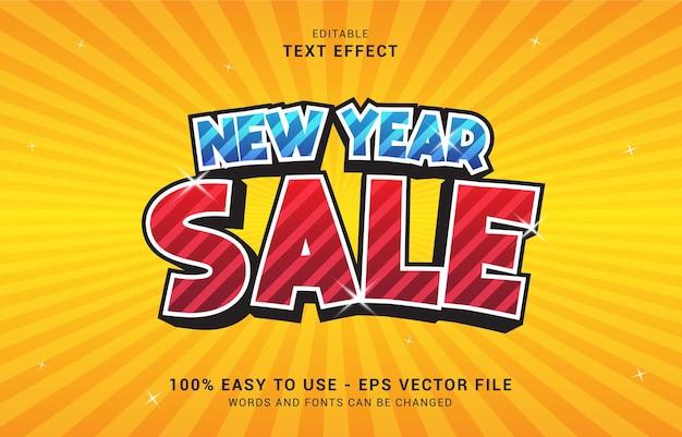 編集可能なテキスト効果、新年セールスタイルを使用してタイトルを作成できます