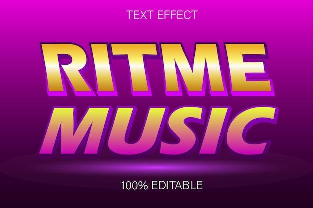 Редактируемый текстовый эффект примечание музыка