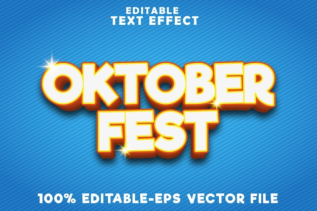 Editable text effect october fest with new modern style