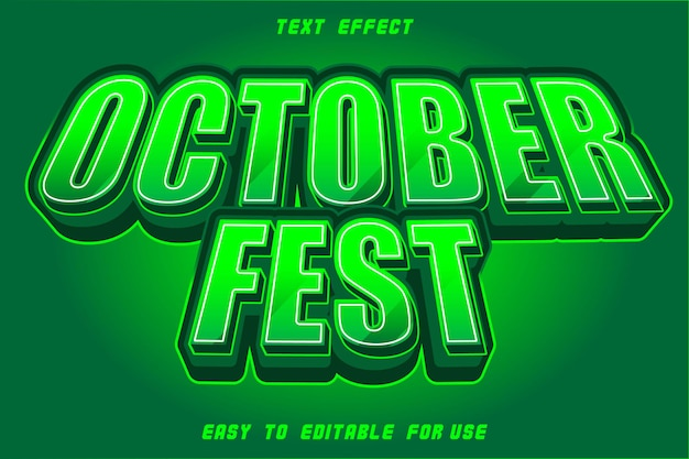 Editable text effect october fest zombie green