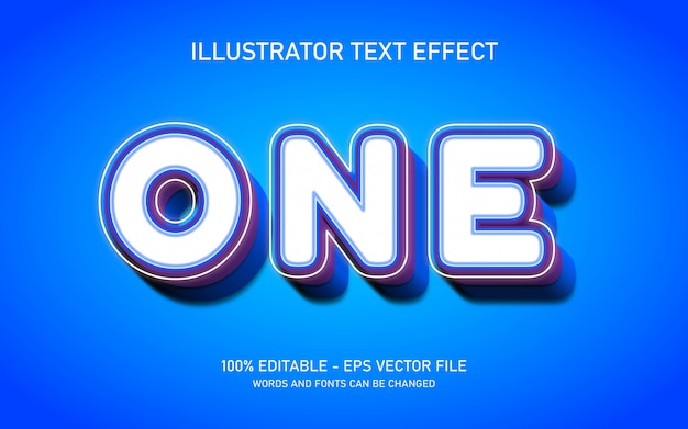 Editable text effect, one style