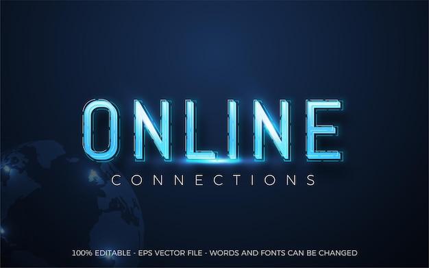 Editable text effect, online desktop gaming style illustrations