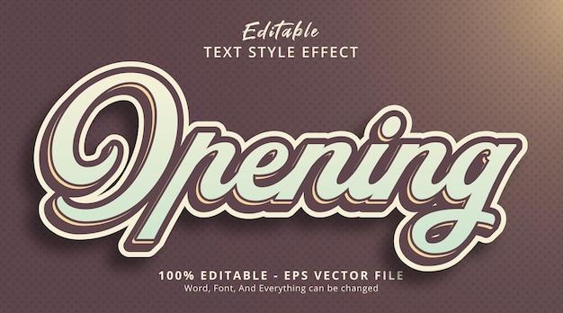 편집 가능한 텍스트 효과, 포스터 스타일 효과에서 텍스트 열기