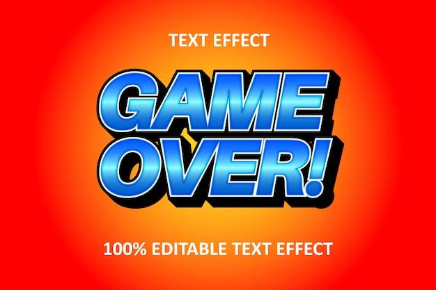 Редактируемый текстовый эффект оранжевый синий