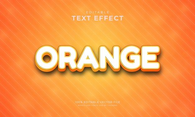 편집 가능한 텍스트 효과 주황색 텍스트 스타일