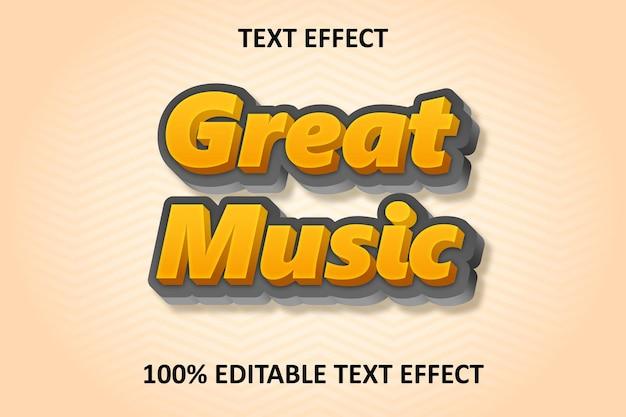 Editable text effect orange silver