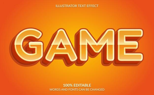 편집 가능한 텍스트 효과, 주황색 비디오 게임 텍스트 스타일
