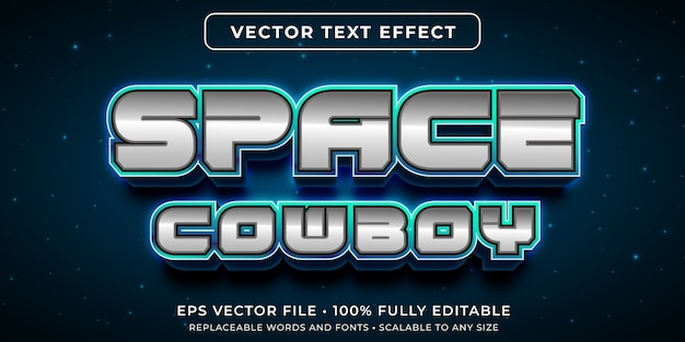 Editable text effect in outer space text style