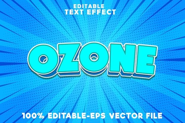 コミックスカイスタイルの編集可能なテキスト効果オゾン