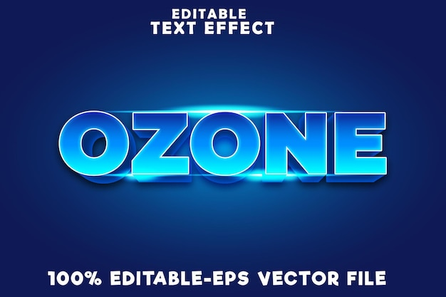 Editable text effect ozone with new modern style