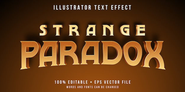 Editable text effect - paradox style