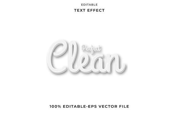 Редактируемый текст эффект идеальный чистый белый