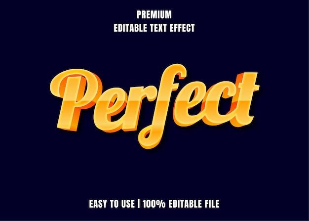 Редактируемый текстовый эффект - perfect gold style