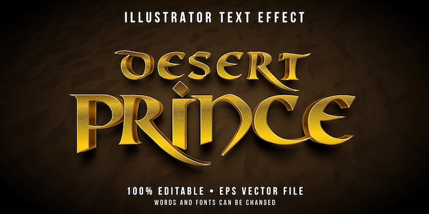 Editable text effect - persian prince style