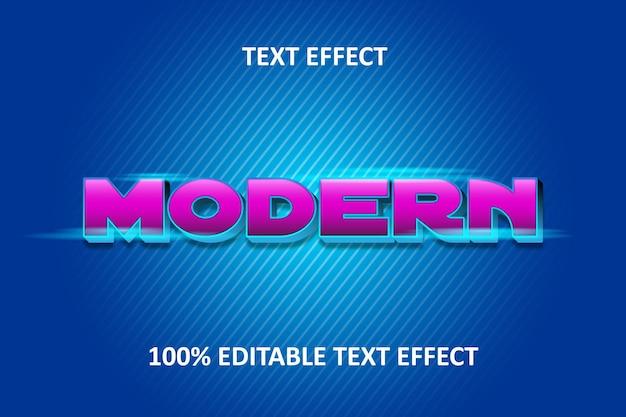 Editable text effect pink blue light