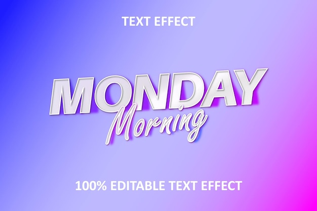 Editable text effect pink blue