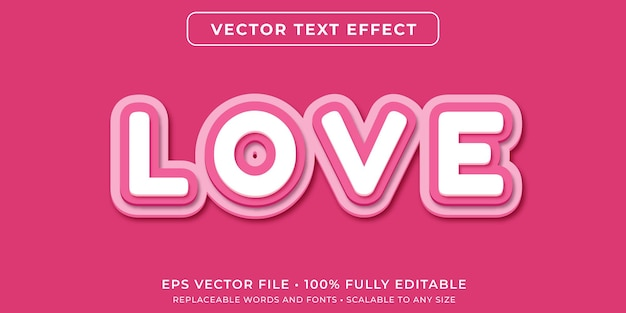 Editable text effect in pink paper cuts style