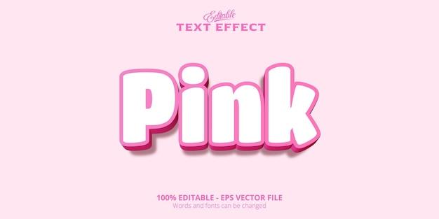 Редактируемый текстовый эффект, розовый текст