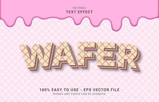 편집 가능한 텍스트 효과, 핑크 웨이퍼 스타일을 사용하여 제목 만들기